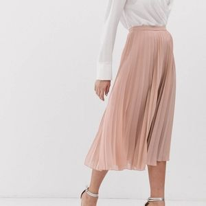 ASOS Design Pleated Midi Skirt Sz 4